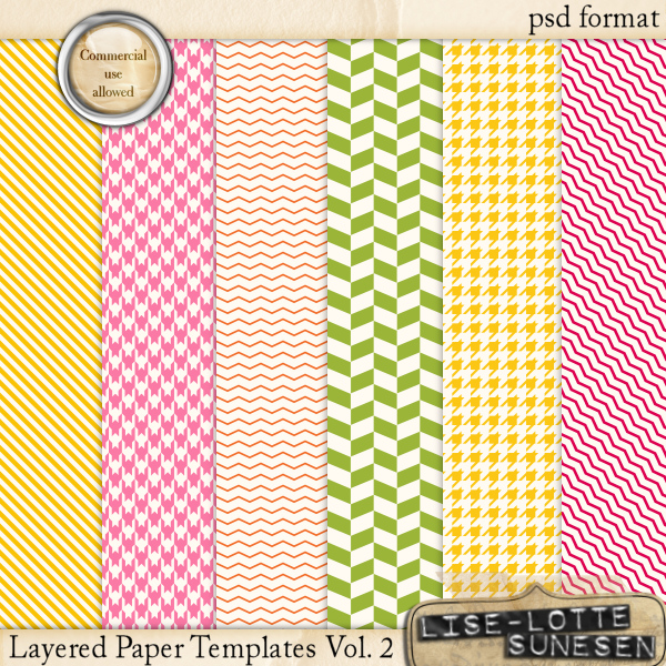 Layered Paper Templates Vol. 2