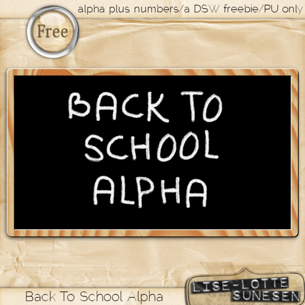 Back To School Alpha - Free Gift