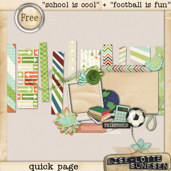School Is Cool + Football Is Fun - Quick Page - Free Gift