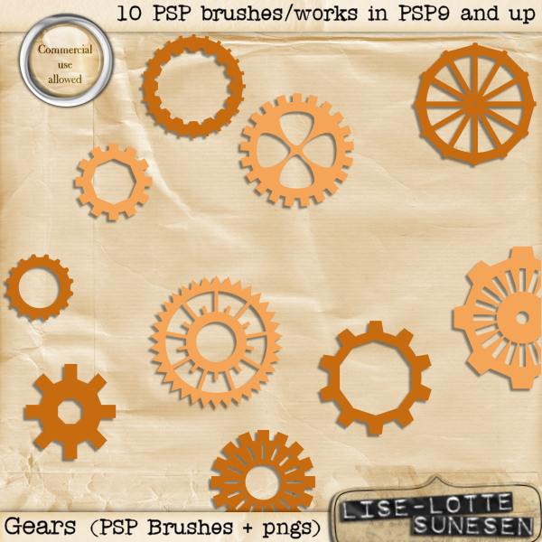 Gears (PSP Brushes + pngs)