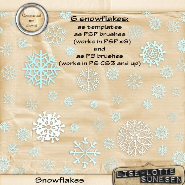 Snowflakes (Brushes + pngs)