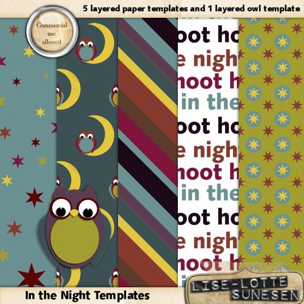 "Layered Paper Templates ""In The Night"""