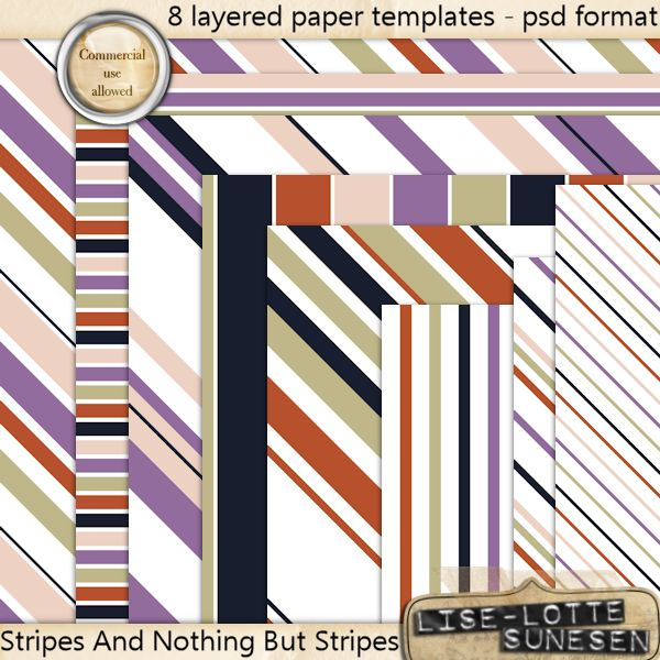 "Layered Paper Templates ""Stripes And Nothing But Stripes"""
