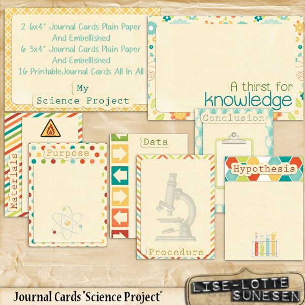Science Project - Journal Cards